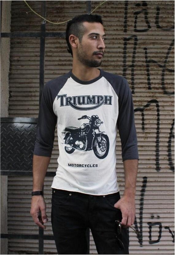 Free Shipping - Retro Bike Baseball Tshirt, Unisex / Mens 3/4 sleeve Raglan T Shirt