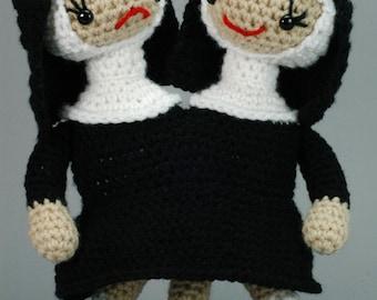 "Conjoined Sisters - CUSTOM ""Antigurumi"" Siamese Nuns"
