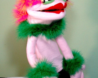 Jeanny Hand Puppet or Ventriloquist Puppet Custom order