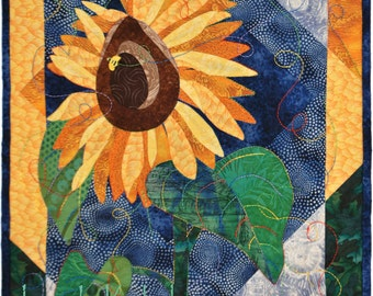 Sunflower Applique Quilt Pattern - PDF Quilt Pattern