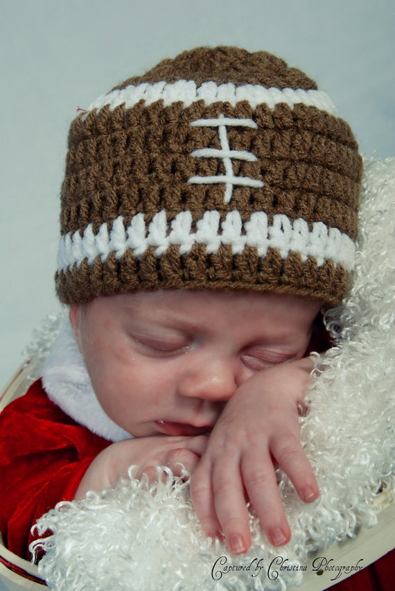 Football Newborn and up Baby Beanie Cap On Sale