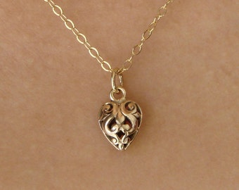 An OPEN HEART Pendant in Beautiful Italian Bronze,Mother's Day Gifts,