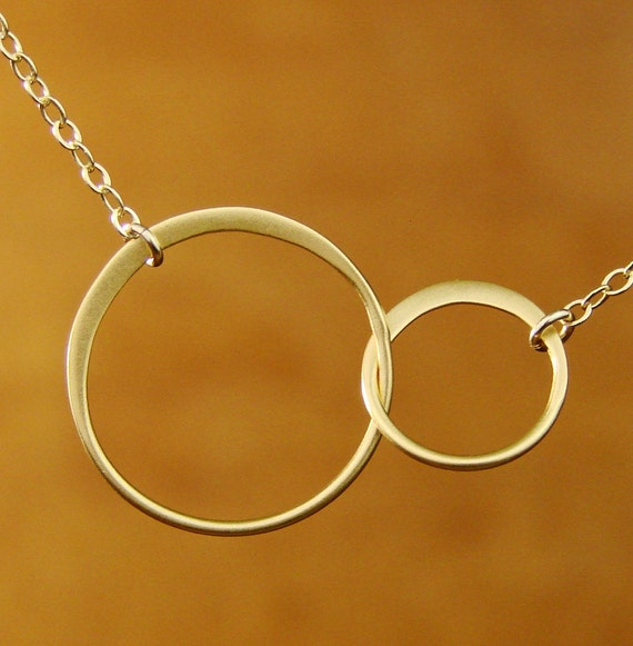 Forever Linked Together Circles in Vermeil and Gold Filled