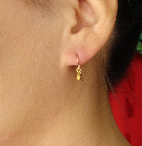 Gold Teardrop Earrings, Dangle, Drop Earrings