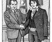 Elvis & Nixon Print