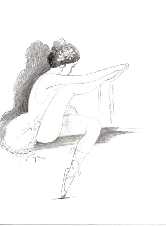 ballerina pencil drawing - photo #37