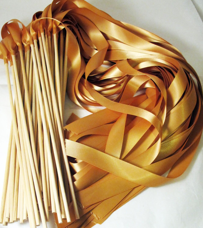 Satin wedding ribbon wands custom colors pack of 50 for Ribbon wands