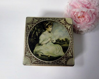 Thorne's Toffee Tin with Picture of Young Girl, The Age of Innocence, Reynolds