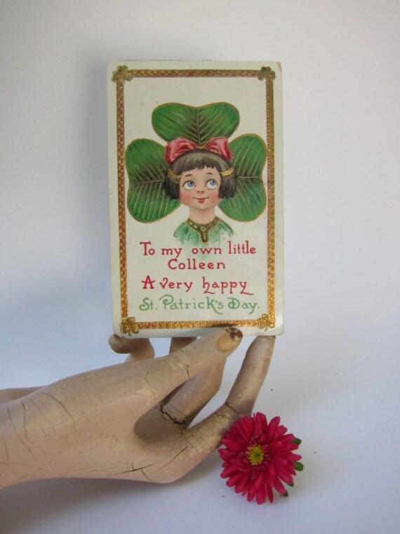 Vintage St Patrick's Postcard, Postmarked March 16, 1913