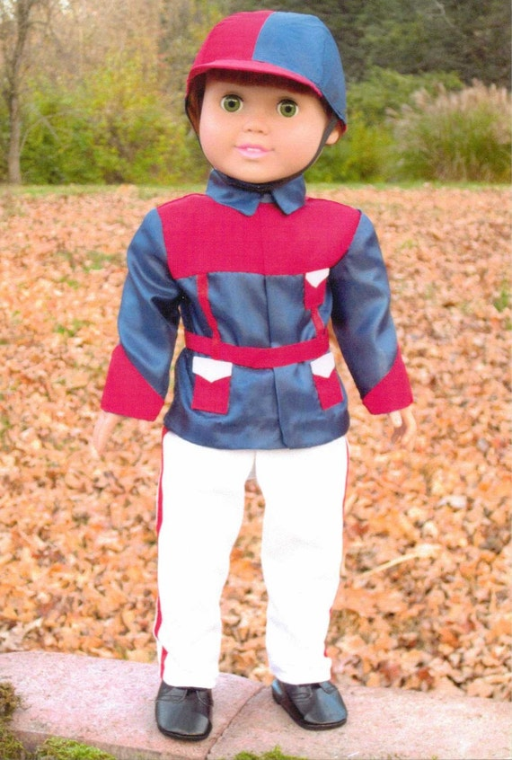 Roadster Show Silks Equestrian Sewing Pattern for 18 inch Doll