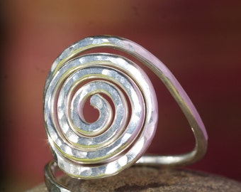 Hand Crafted Silver Spiral Ring