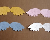 8 Angel Wing Die Cuts Embellishments for Scrapbooking Cards and Paper Crafts Baby Heavenly