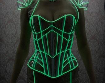 CLEARANCE- Clear Glow in the Dark Skirt - Artifice Medium/Large Green glow in the dark