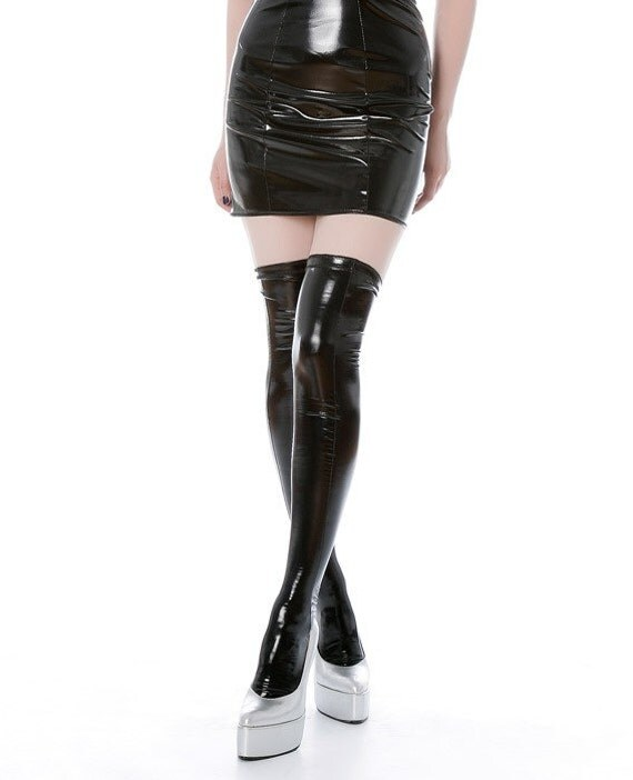 M  PVC stockings with stay up silicone tops Artifice Clothing (made to order)