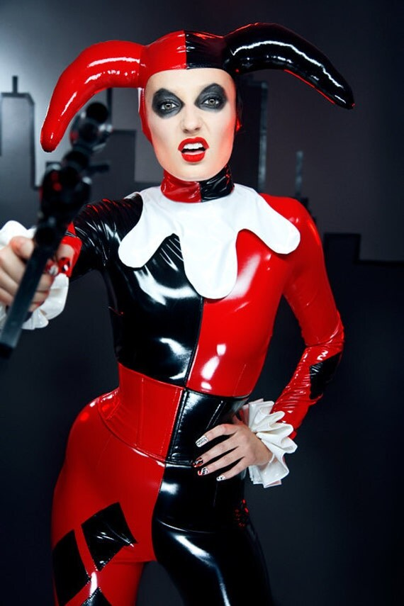 M Harley Quinn PVC catsuit and hood from Artifice Clothing (made to order)