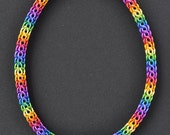 Gay Pride Necklace Chakra Necklace Rainbow Chainmail Necklace,18 inches