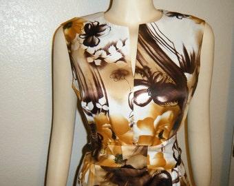 Vintage Hawaiian Sleeveless Maxi Dress By Tropicana Hawaii
