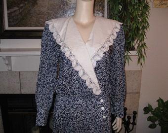 Vintage O'Neil Drop Waist Petite Bow Sailor Dress
