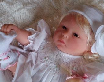 17 inch Handmade Preemie Size Babydoll Lilly