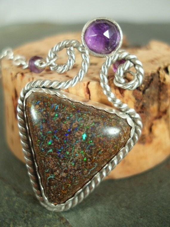 Fairy Queen Boulder Opal Necklace