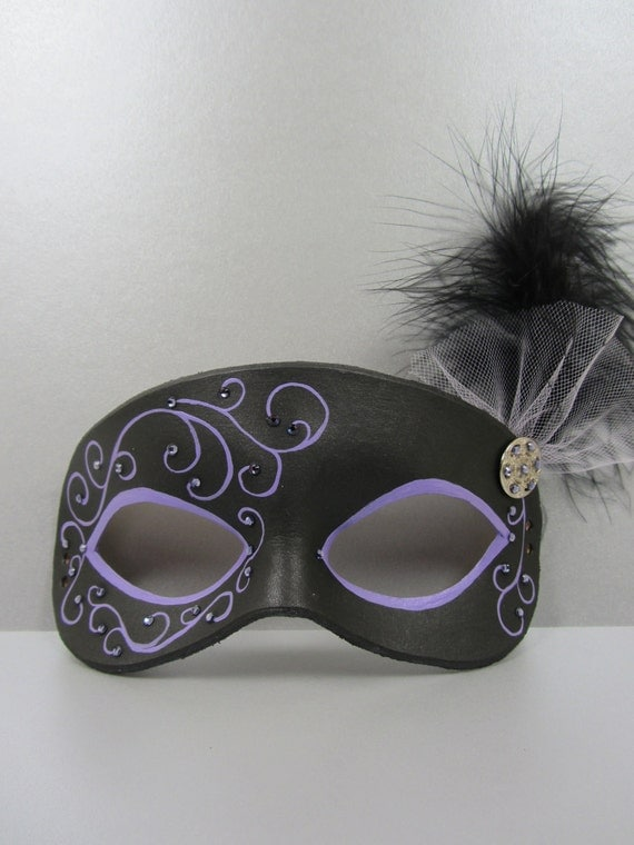Purple and Black Masquerade Mask