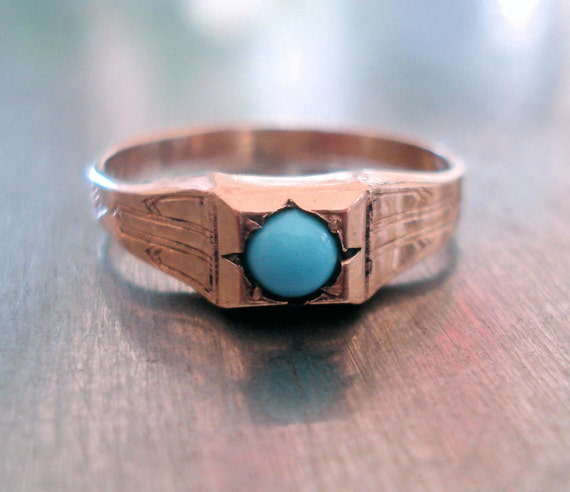 Art Deco Turquoise Ring