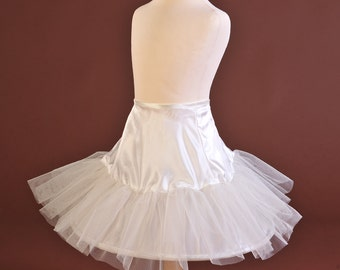 Habutai Silk single net layer crinoline/petticoat to make a dress look fuller and stand out