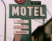 K Motel - Los Angeles, CA - 8 x 10 Fine Art Print - 35mm Film Photograph