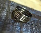 Hammered Rings: Sterling Silver Stacking Rings.