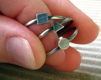 Geometric Rings: Stacking Ring Set.