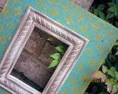 Nagoya Distressed Vintage Picture Frame, Desert Turquoise / Spanish Olive / Linen