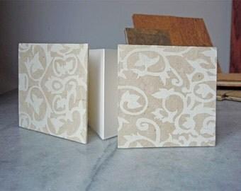 White Lattice Print Mini BFK Artist's Book