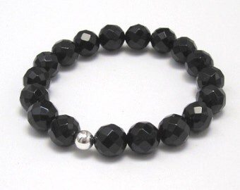 Onyx Base Chakra Mala Bracelet, Men Women Protection Healing Gemstone Bracelet, Birthday Anniversary Gift for Her Recovery Yoga Mala Beads
