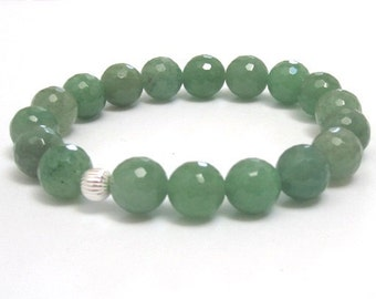 Emerald Green Aventurine Mala Beads Beaded Bracelet Birthday Anniversary Wedding Gifts for Mother in Law Daughter, Sister, Healing Crystals