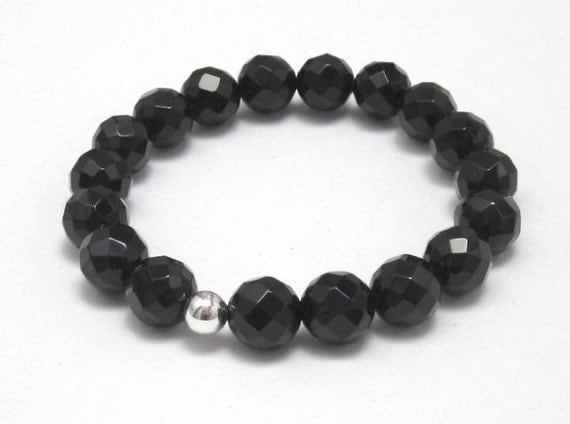 Black Onyx Base Chakra Bracelet Women Birthday Anniversary Gifts for Her, Men Protection Zen Yoga Bracelet Best Gifts Under 35, BFF, Couples