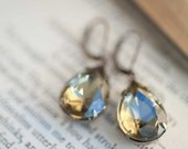 Gray Dangle Earrings Grey Bridesmaid Earrings Gift Idea Under 25 Black Drop Earrings Vintage Jewelry