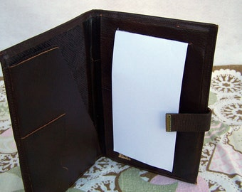 """Vintage 70's """"BARON"""" Leather Wallet Taking Care of Business Organizer"""