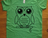 Owl Shirt - Oscar the Owl T Shirt - 8 Colors Available - Kids Tshirt Sizes 2T, 4T, 6, 8, 10, 12 - Gift Friendly