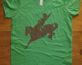 Rodeo Kids Shirt - Cowboy or Cowgirl - Horse Shirt - 8 Colors Available - T shirt Sizes 2T, 4T, 6, 8, 10, 12 - Gift Friendly