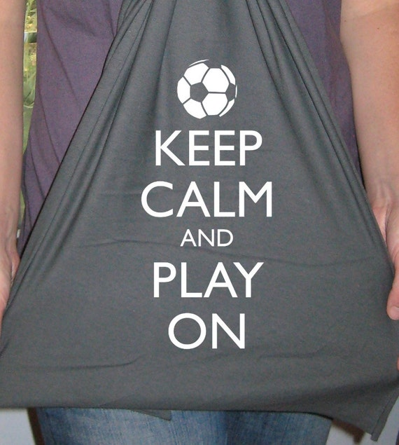 Soccer Scarf - Mens Scarf or Womens Scarf - Keep Calm and Play On Jersey Scarf - 2 Colors Available - Gift Friendly