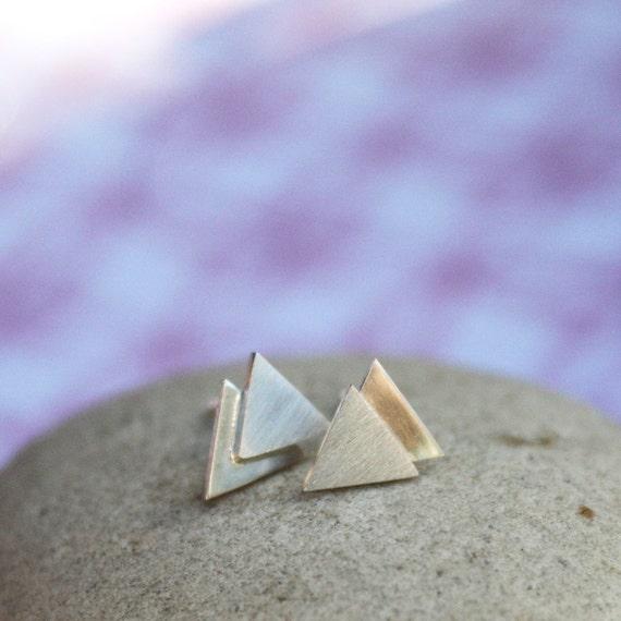 Chevron / Triangle Stud Earrings