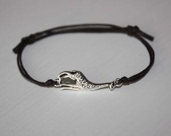 Giraffe Bracelet or Anklet, Tibetan Silver