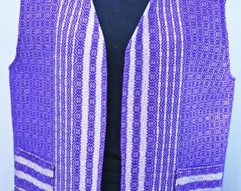 Purple and lavender cotton vest women's spring vest