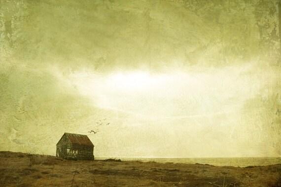 Surreal landscape photography, Reykjavik Iceland, nostalgic art print, vintage inspired wall art
