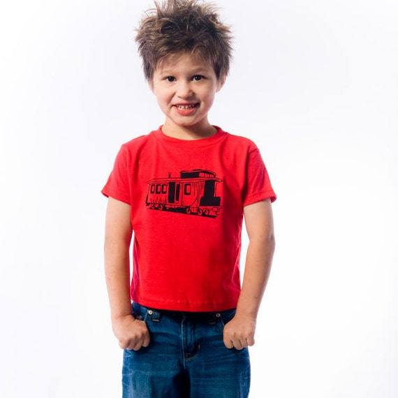 Back to School - Train Birthday Shirt- Vintage feel Train  Caboose T-Shirts - ( Black Ink ) Train Party