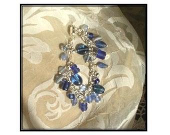 Blue & Silver Bauble Bracelet Too