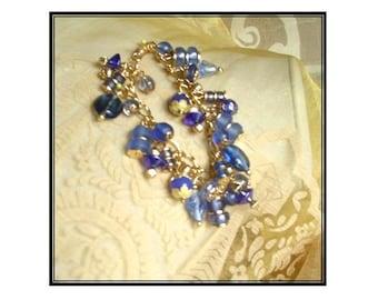 Blue & Gold Bauble Bracelet Too