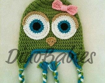 Custom Owl Earflap Beanie