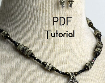 "PDF - ""Tubed Key, or not Tubed Key"" peyote PDF tutorial"