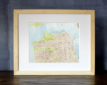 San Francisco California Map Print 8x10 Print